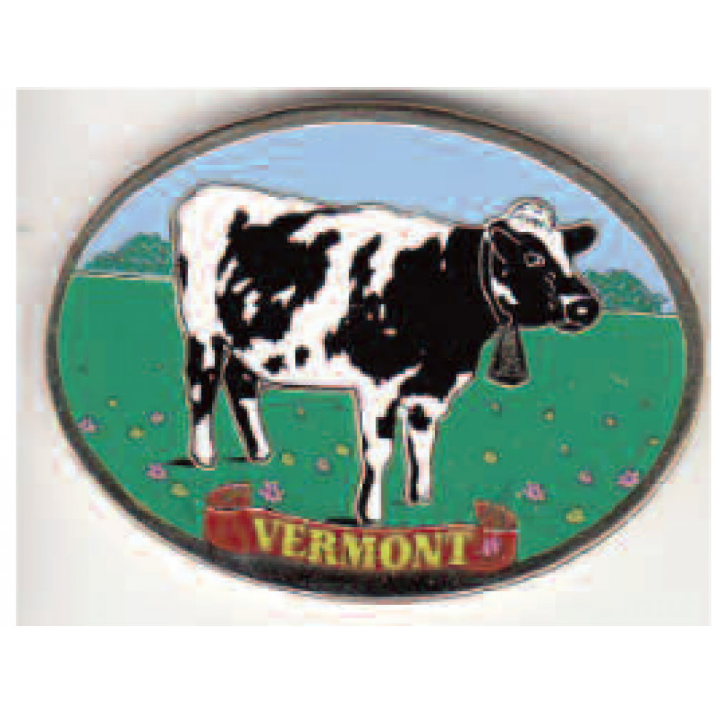 Magnet Cow Pewter Colorfil