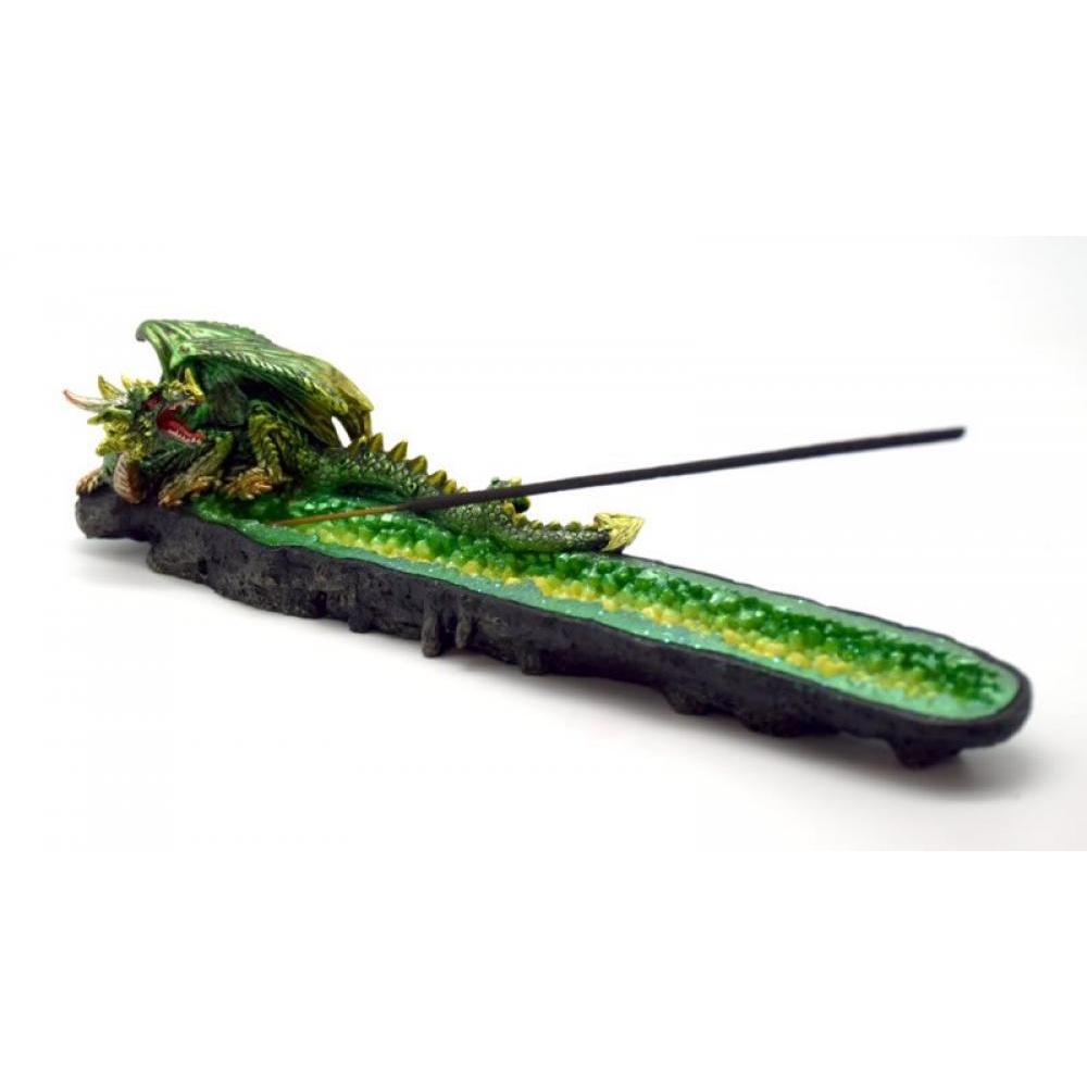 Incense Burner Green Dragon