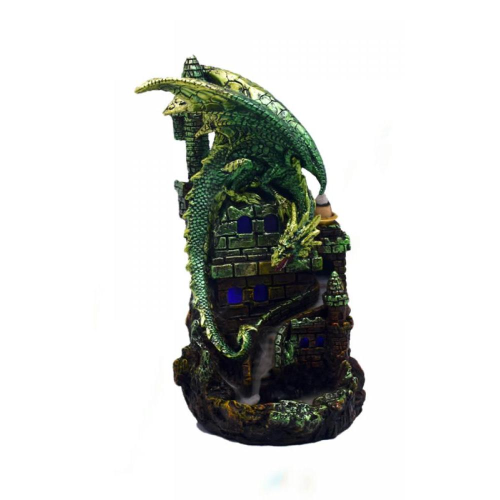 Backflow Incense Burner Green Dragon