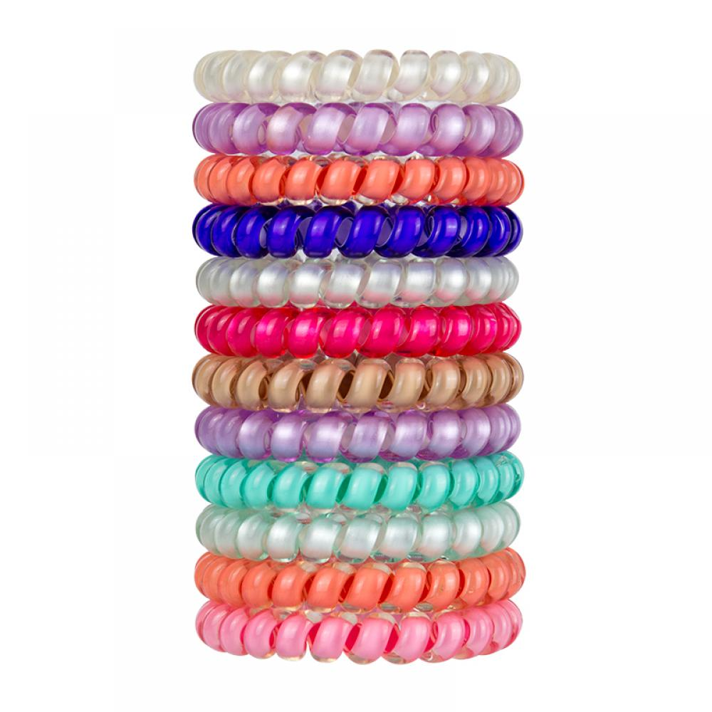 SwirlyDo Hair Ties Small Bright Colors Assorted
