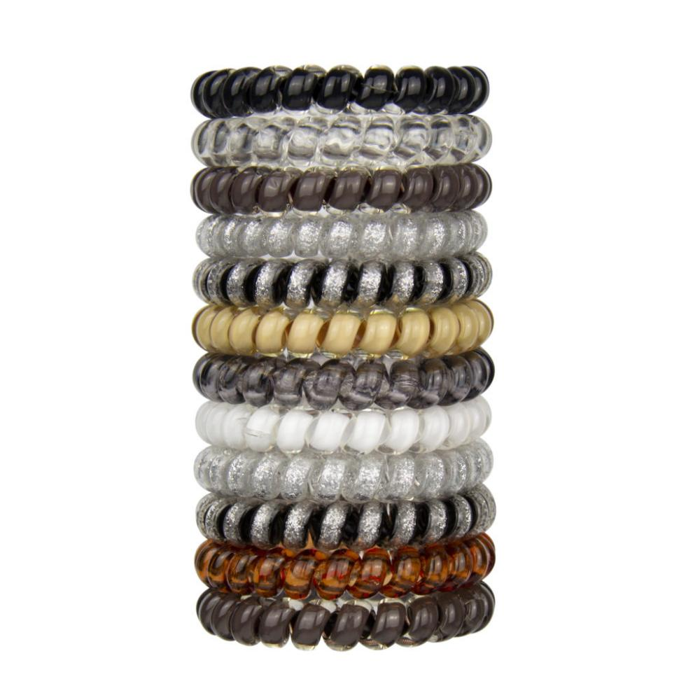 SwirlyDo Hair Ties Small Neutral Colors Assorted
