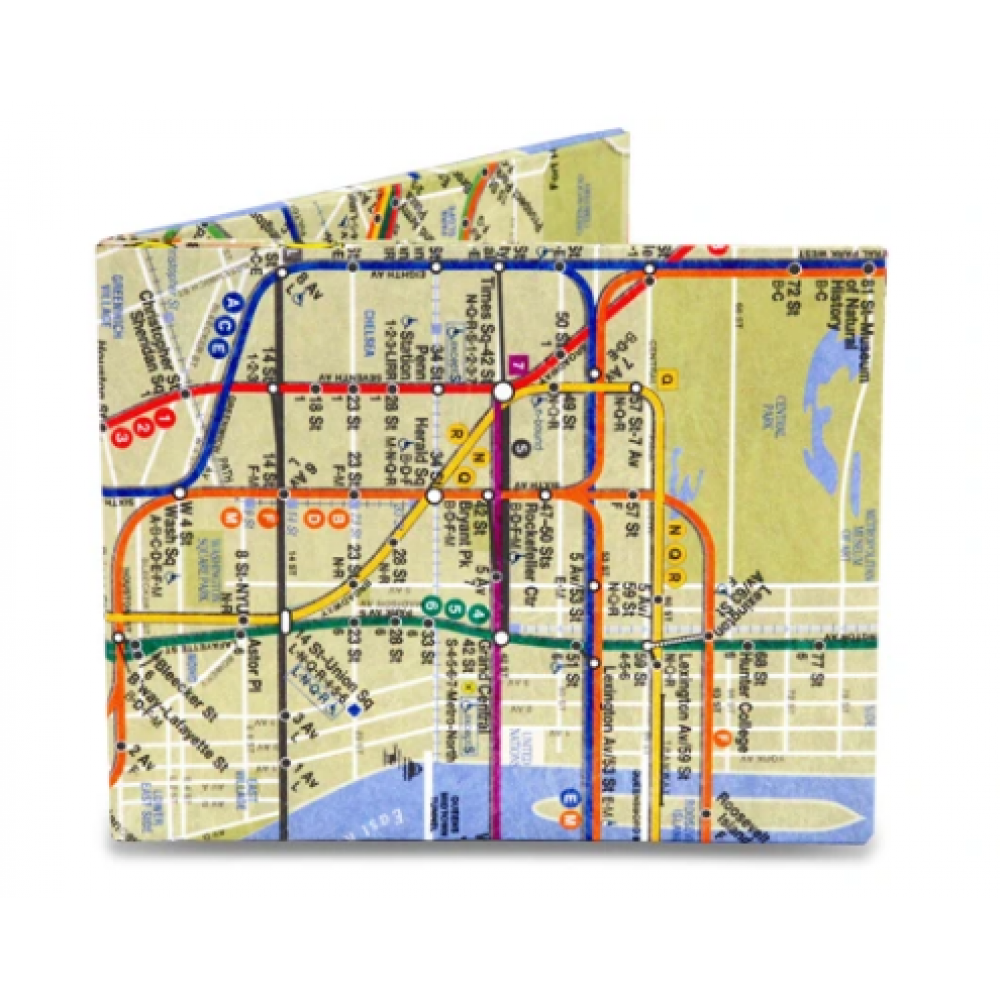 Mighty Wallet Subway Map