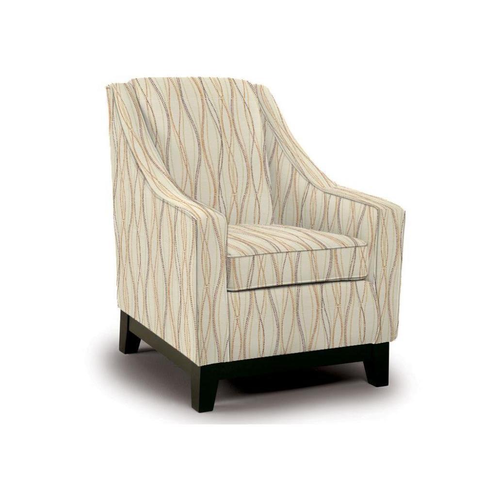 Mariko Accent Chair Espresso Finish Saffron Fabric