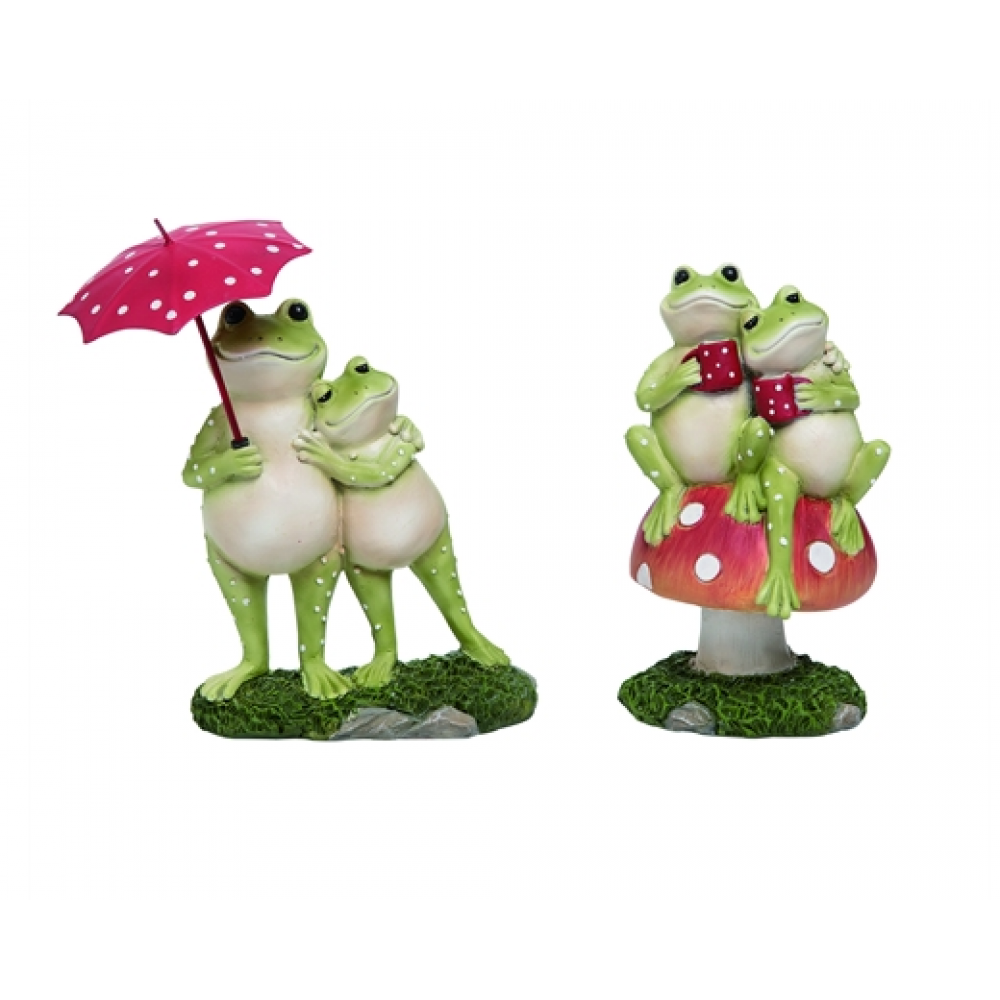 Frog Couple Fig 2 Asst