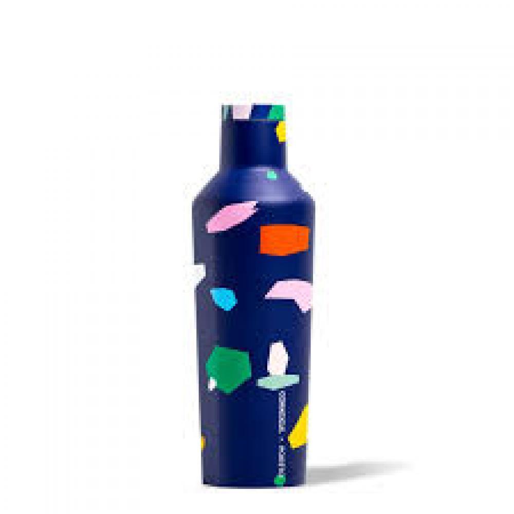 Travel Bottle Canteen 16oz Blue Confetti