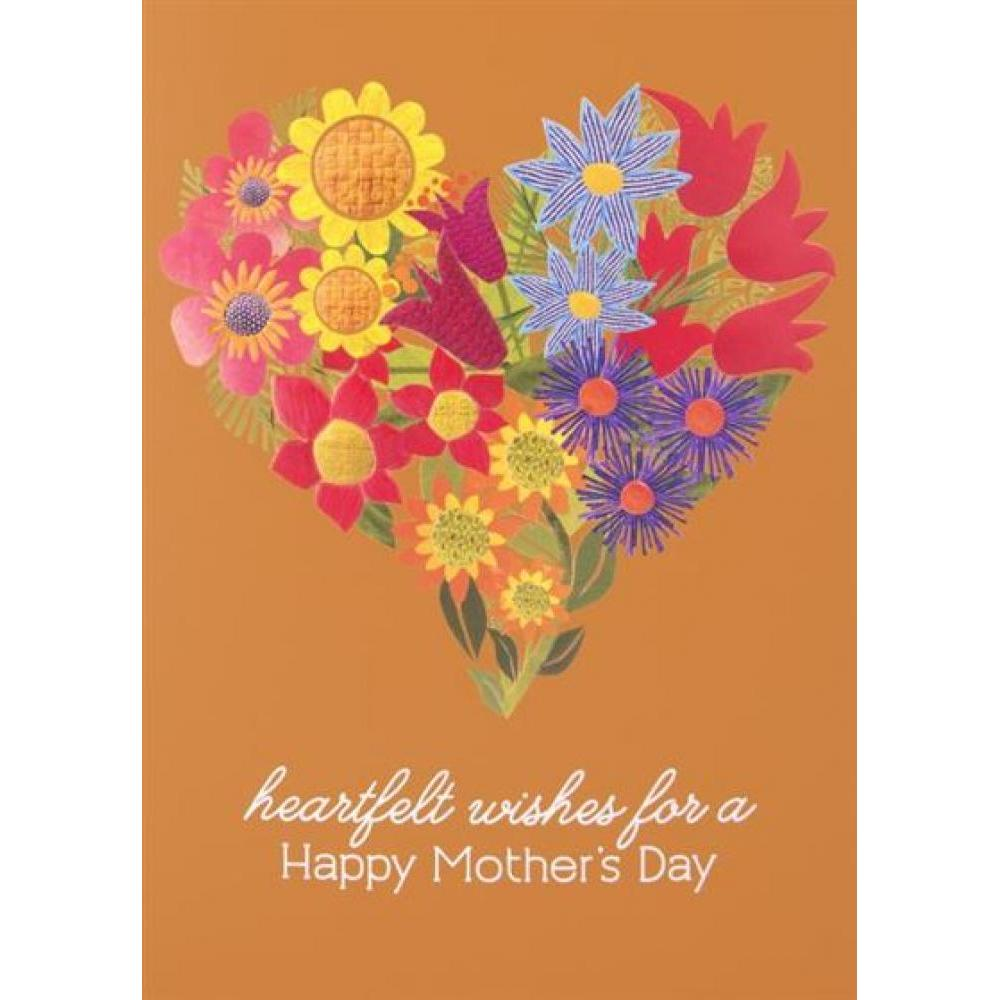 Mothers Day - Heart & Floral Collage