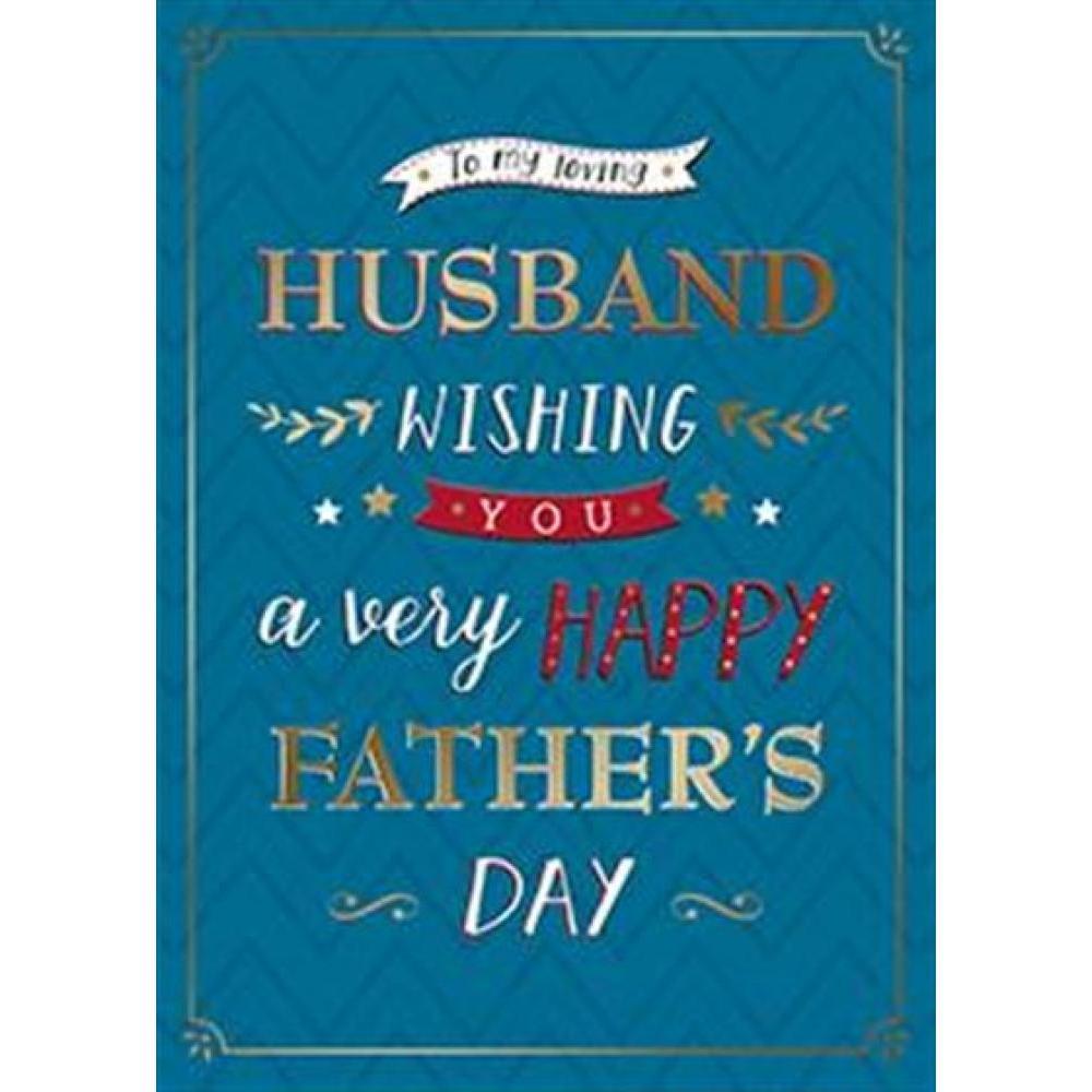 Fathers Day- Husband - Blue Husband Declaration