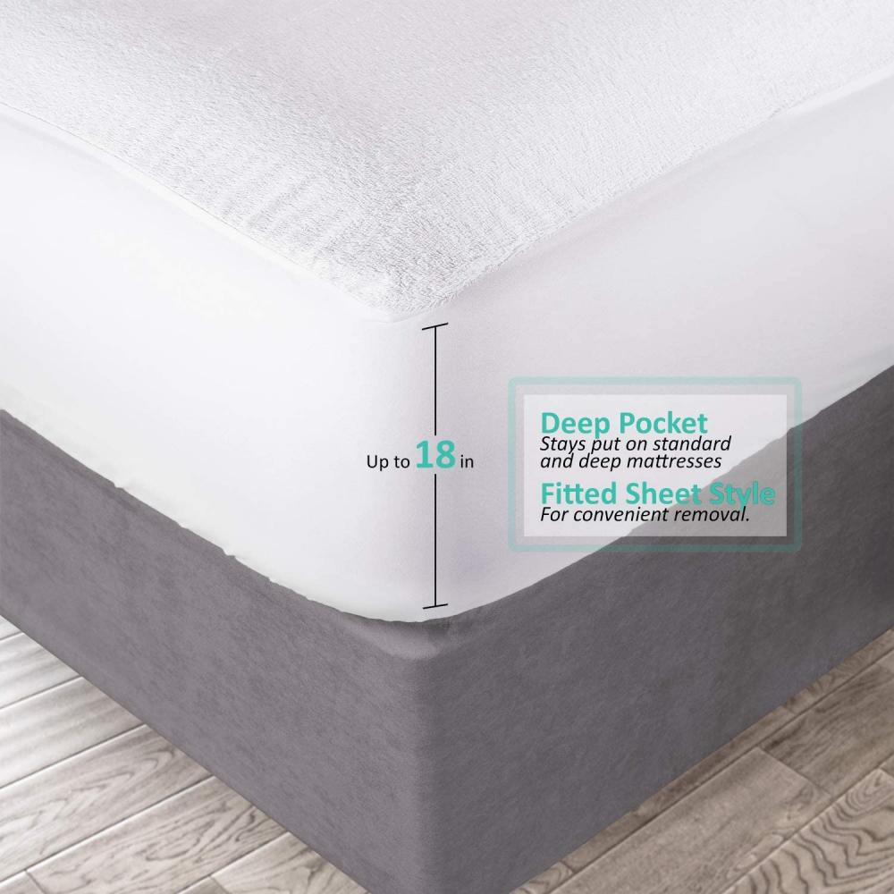 Mattress Protector Fitted TWIN Deep Pocket