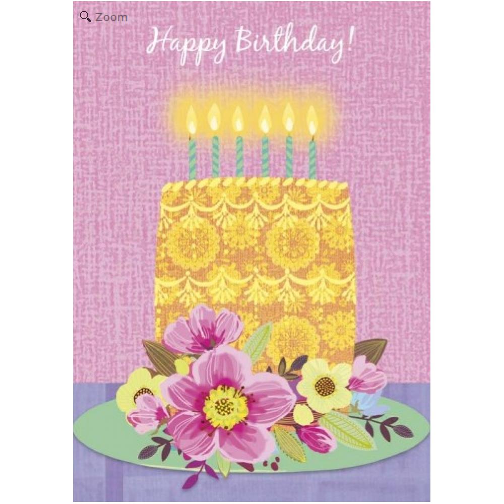 Birthday - Bright and Beautiful Cake