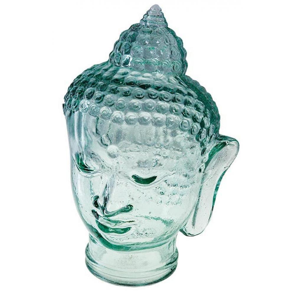 Recycled Glass Buddha Head