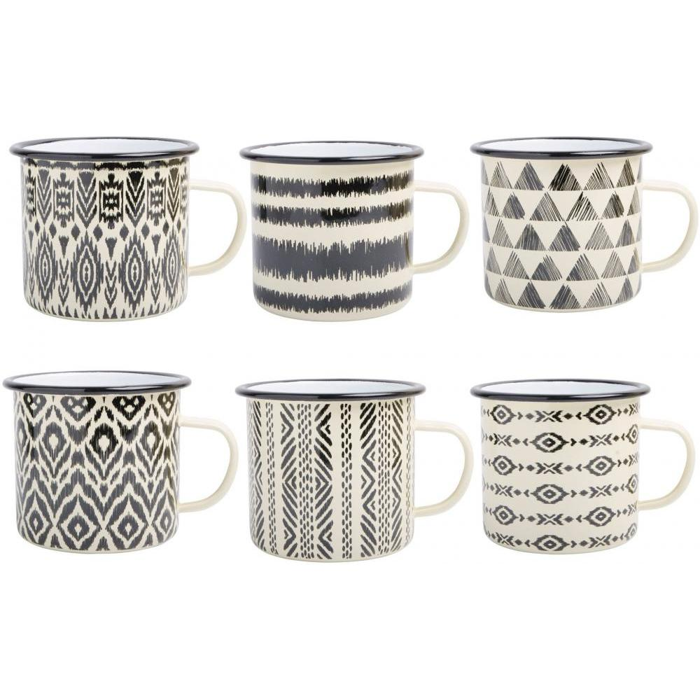 Assorted Global Enamel Mugs 24 Oz