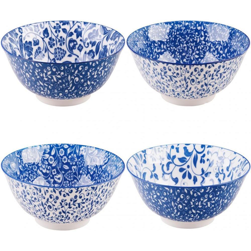 Assorted Blue & Bowls