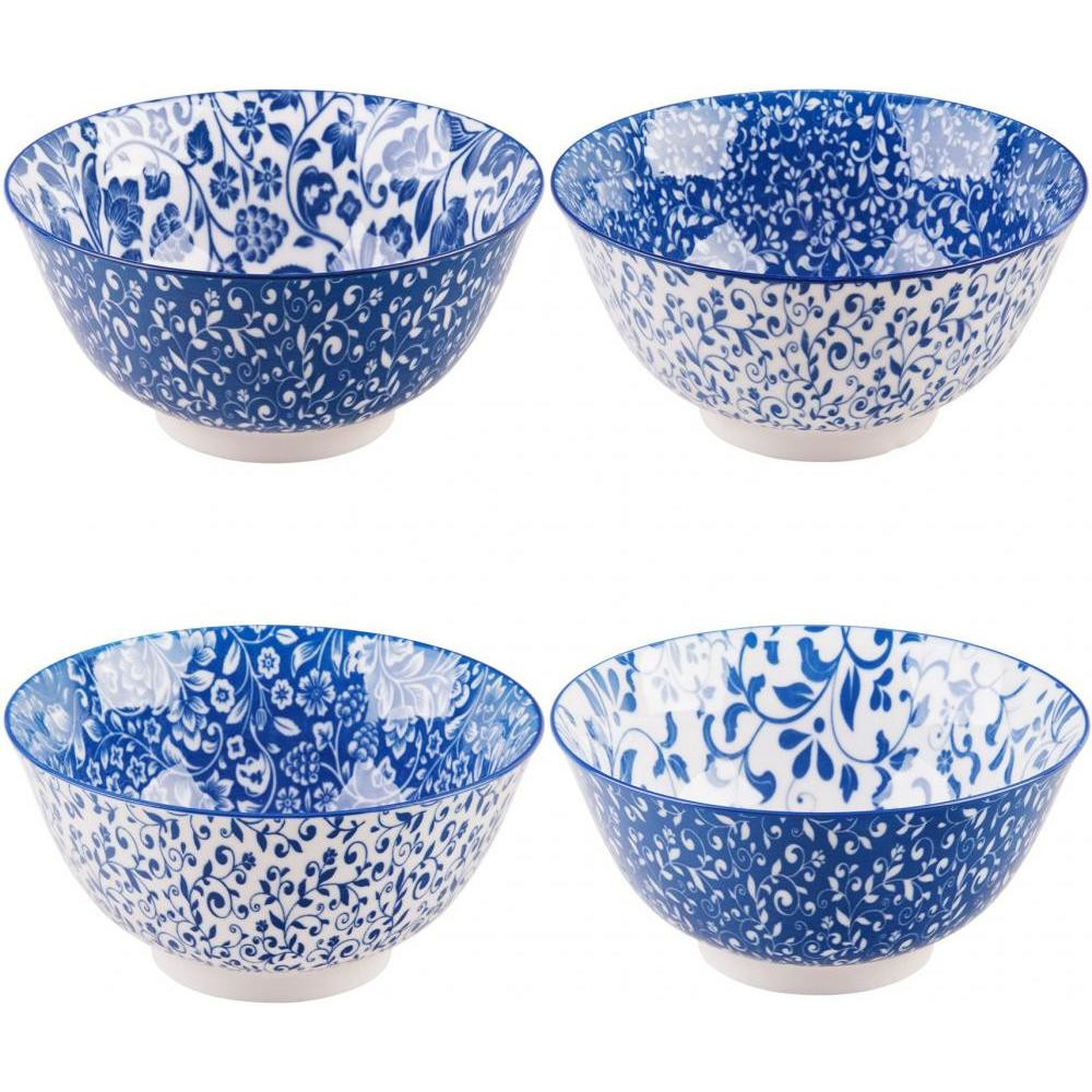Bowls Assorted 20 Oz Blue & White