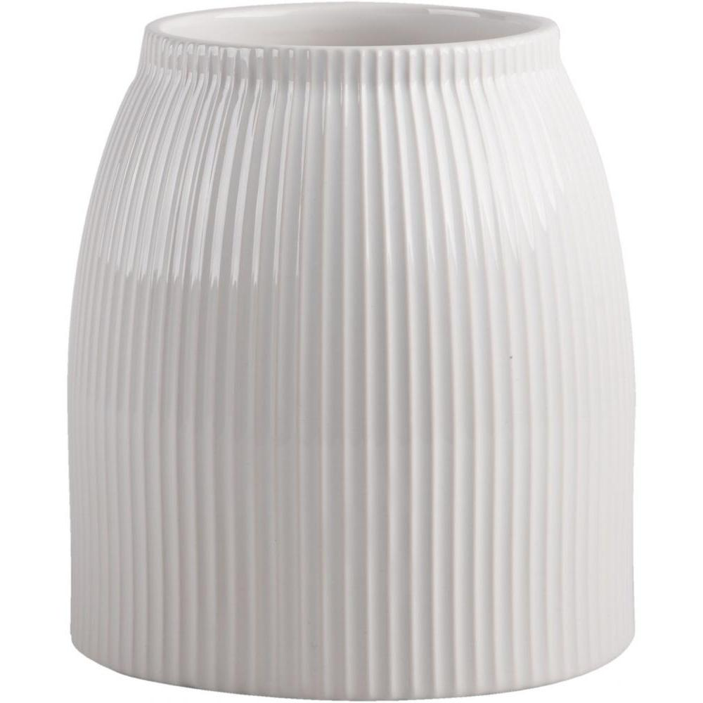 Stripe Embossed Utensil Crock