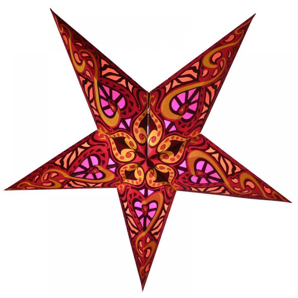 Star Lantern Red Trance 24in