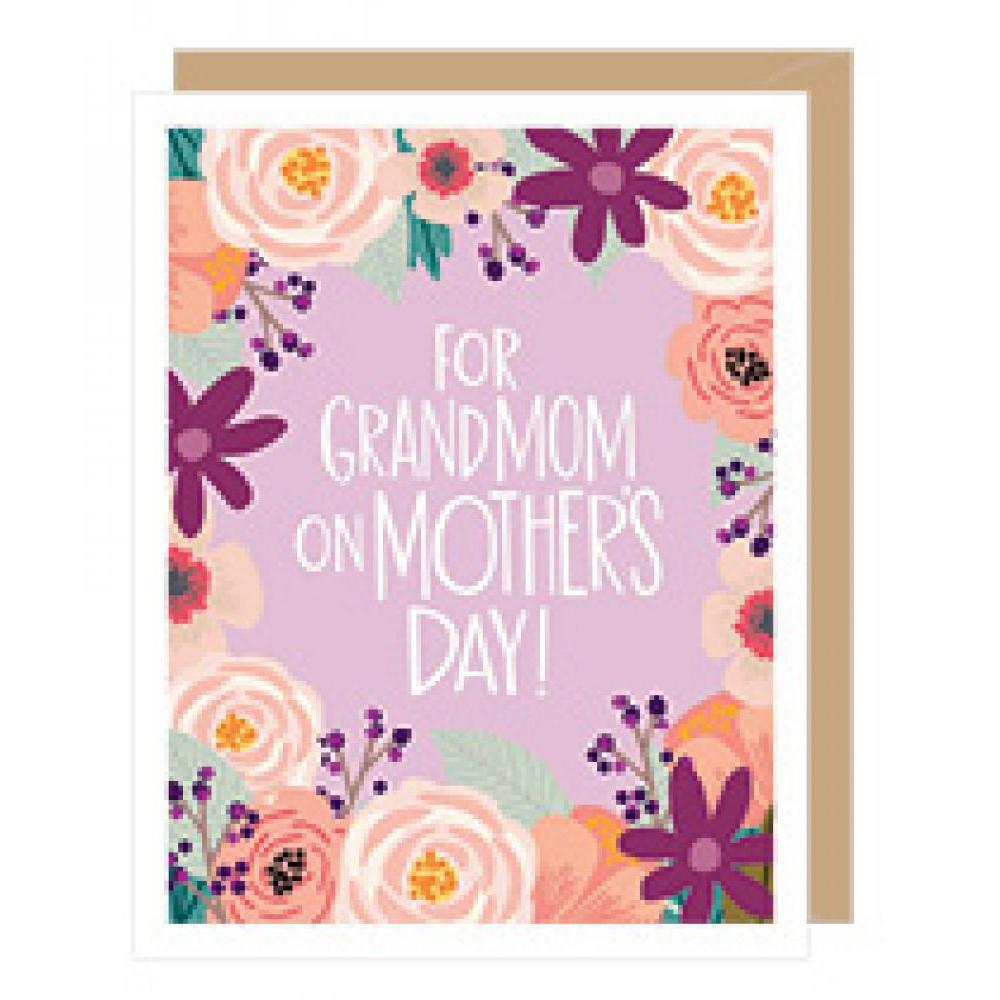 Mothers Day - Grandmother - Floral Grandmom