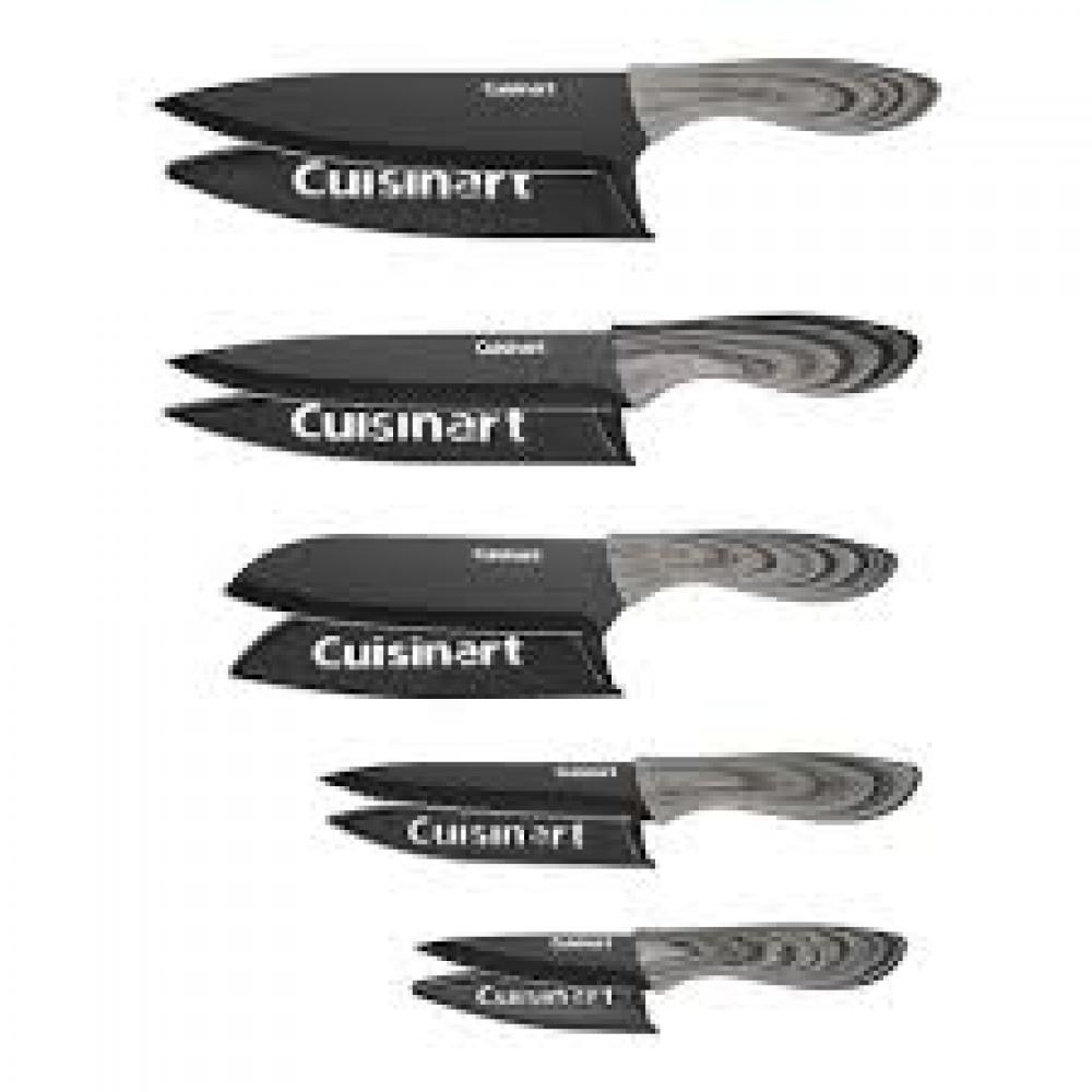 10 Pc Faux Wood Knife Set