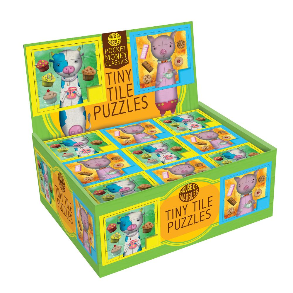 Puzzle Slide Tile Brain Teaser Assorted Pig and Cow Designs