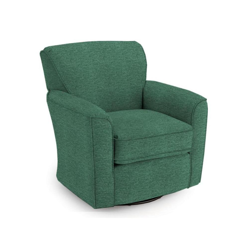 Kaylee 50s Swivel Glider In Peacock Fabric