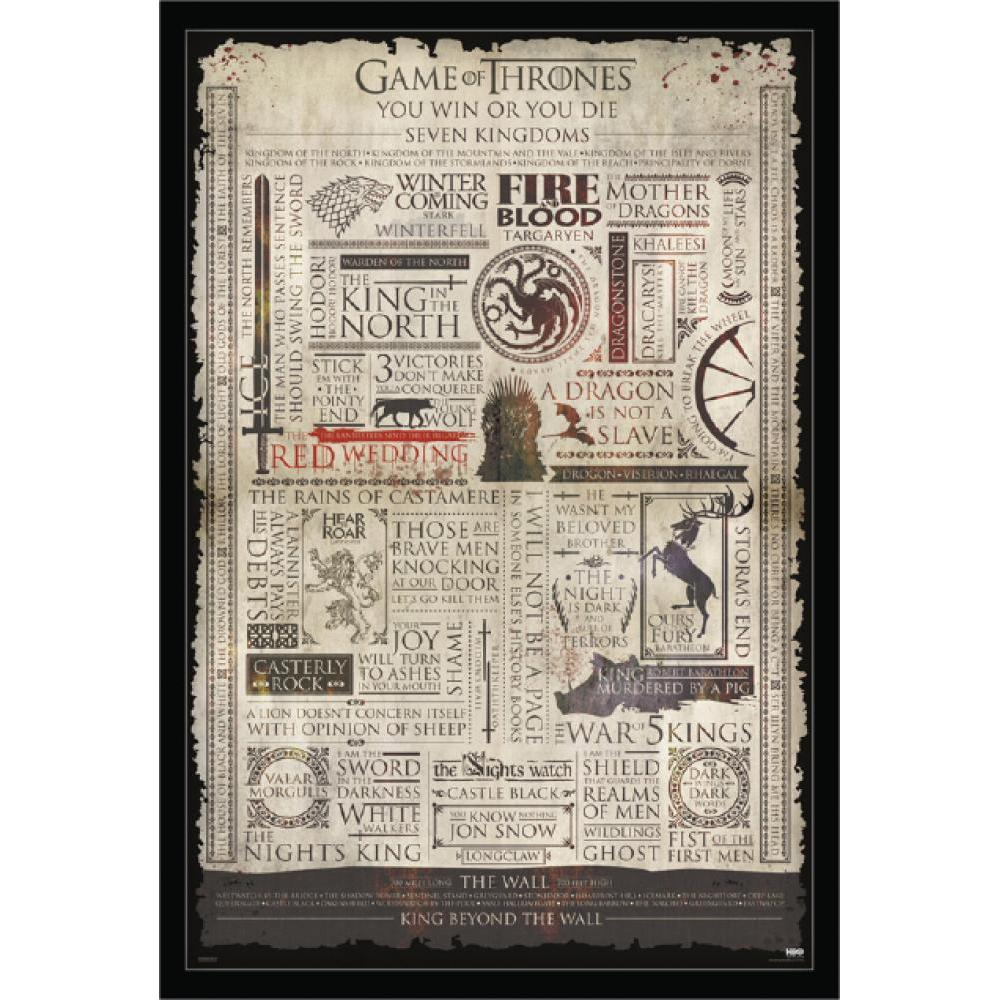 Game Of Thrones: Infographic 24inx36in Poster