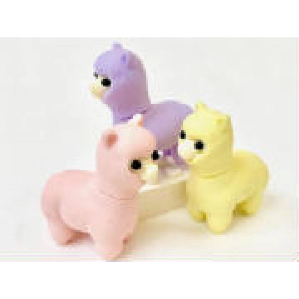 Eraser Llama 3 Assorted Colors
