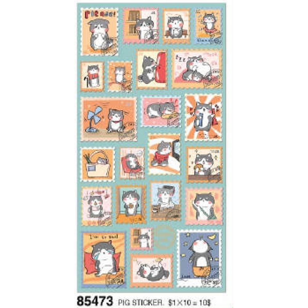 Stickers Nekoni Animal Flat Cat Stamp