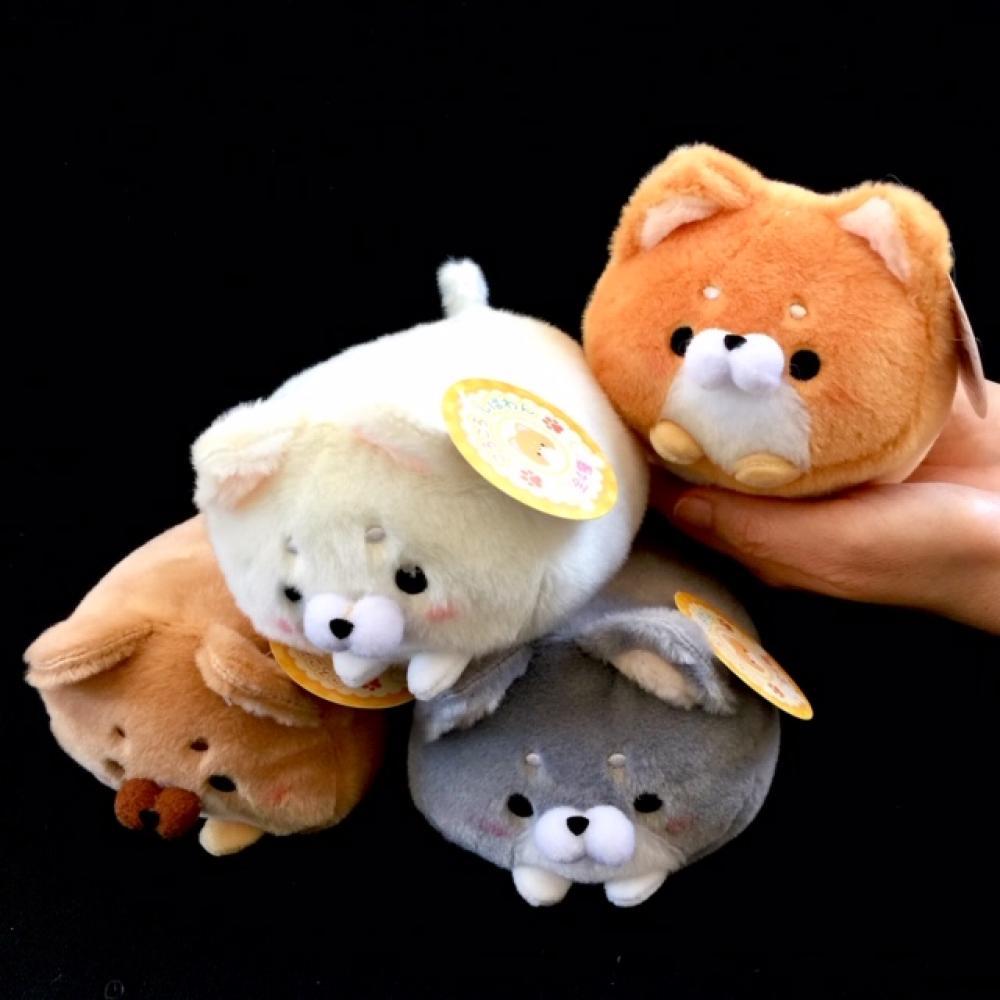 Japanese Plush Dog Large 4 Assorted