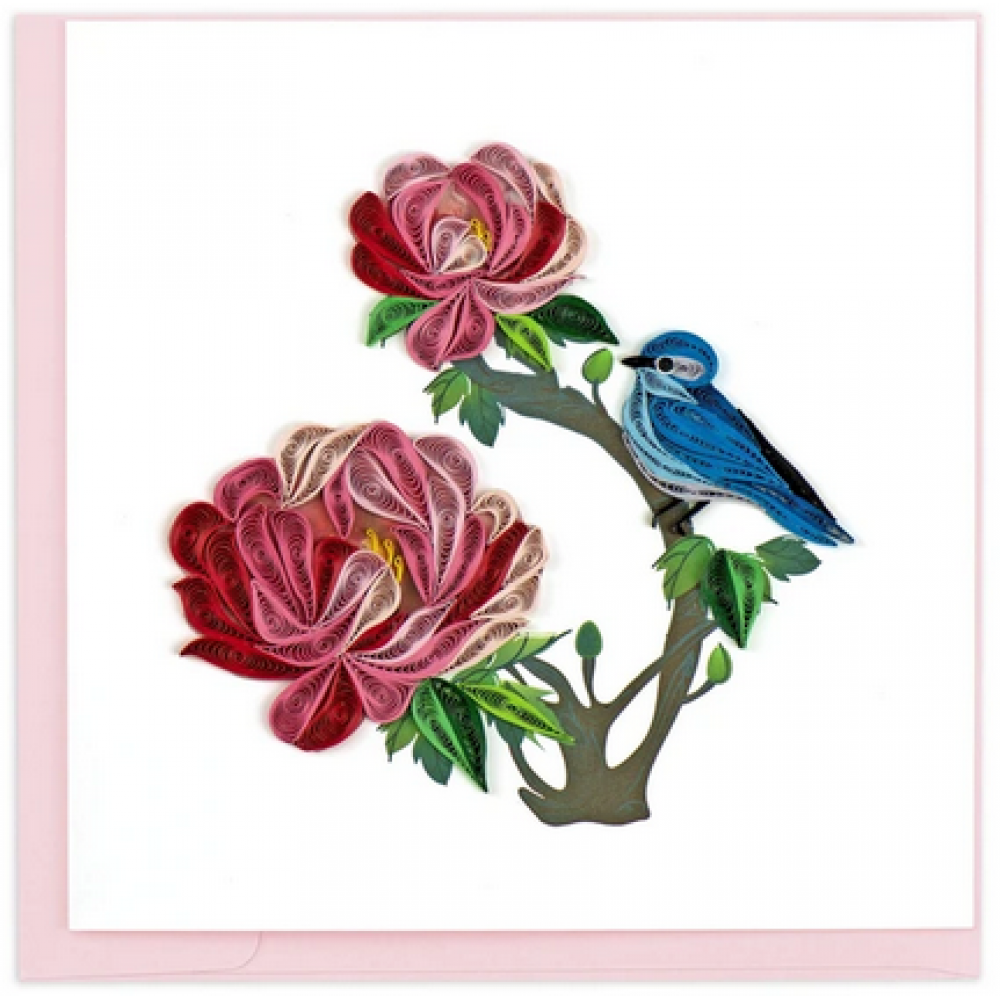 Any Occasion - Quilling Card - Peony