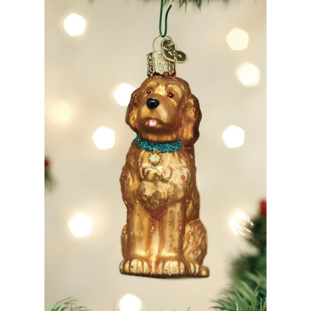 Christmas Ornament Dog Irish Doodle
