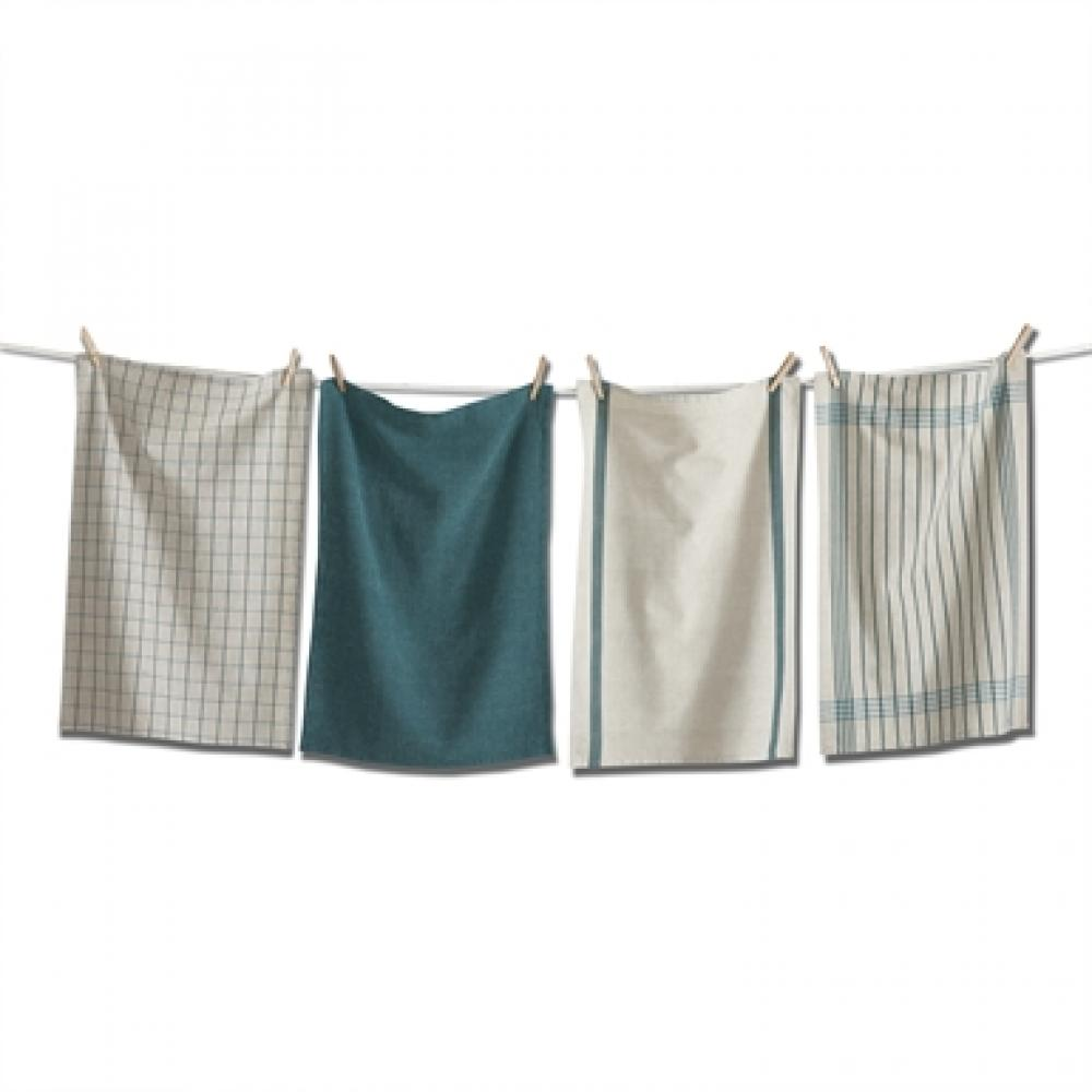 Prairie Woven Dishtowel Set of 4 Green