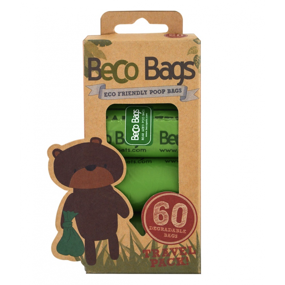 Dog Waste Bags Beco 60ct Unscented