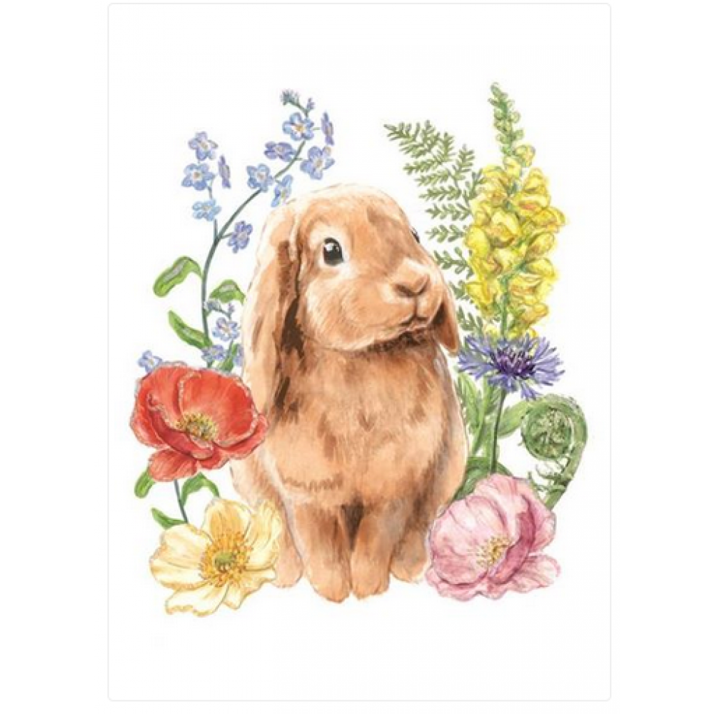 Easter - Rabbit in Flower Patch