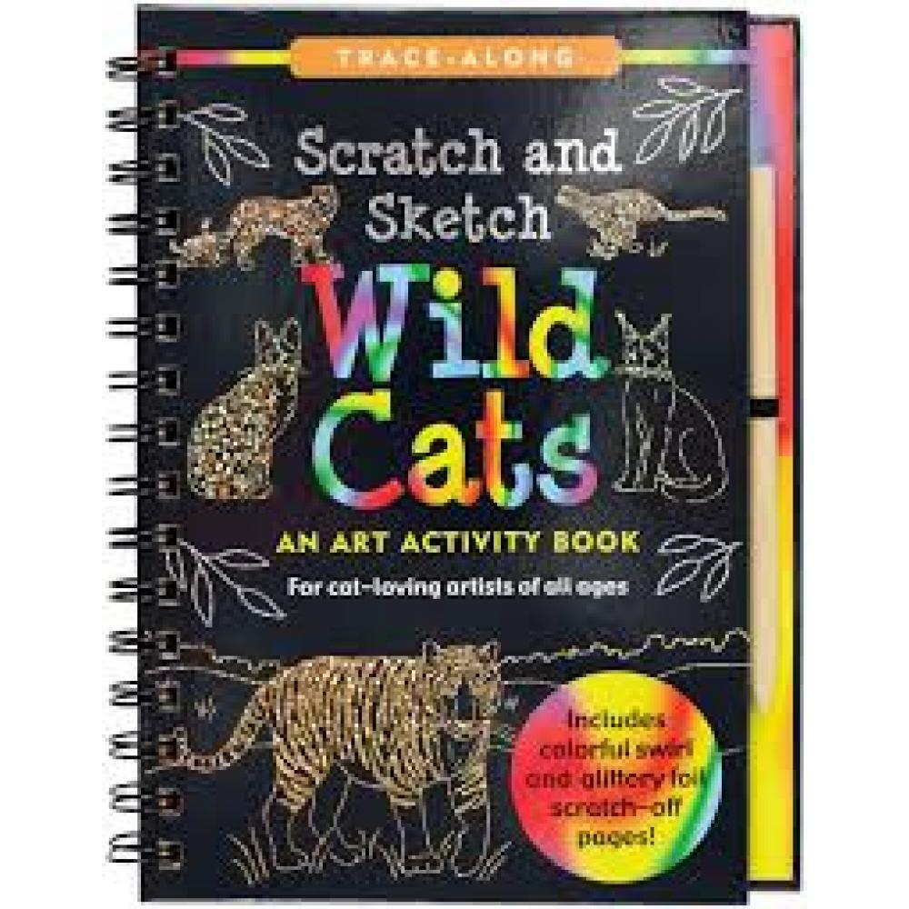 Scratch And Sketch Trace Along Activity Book Wild Cats