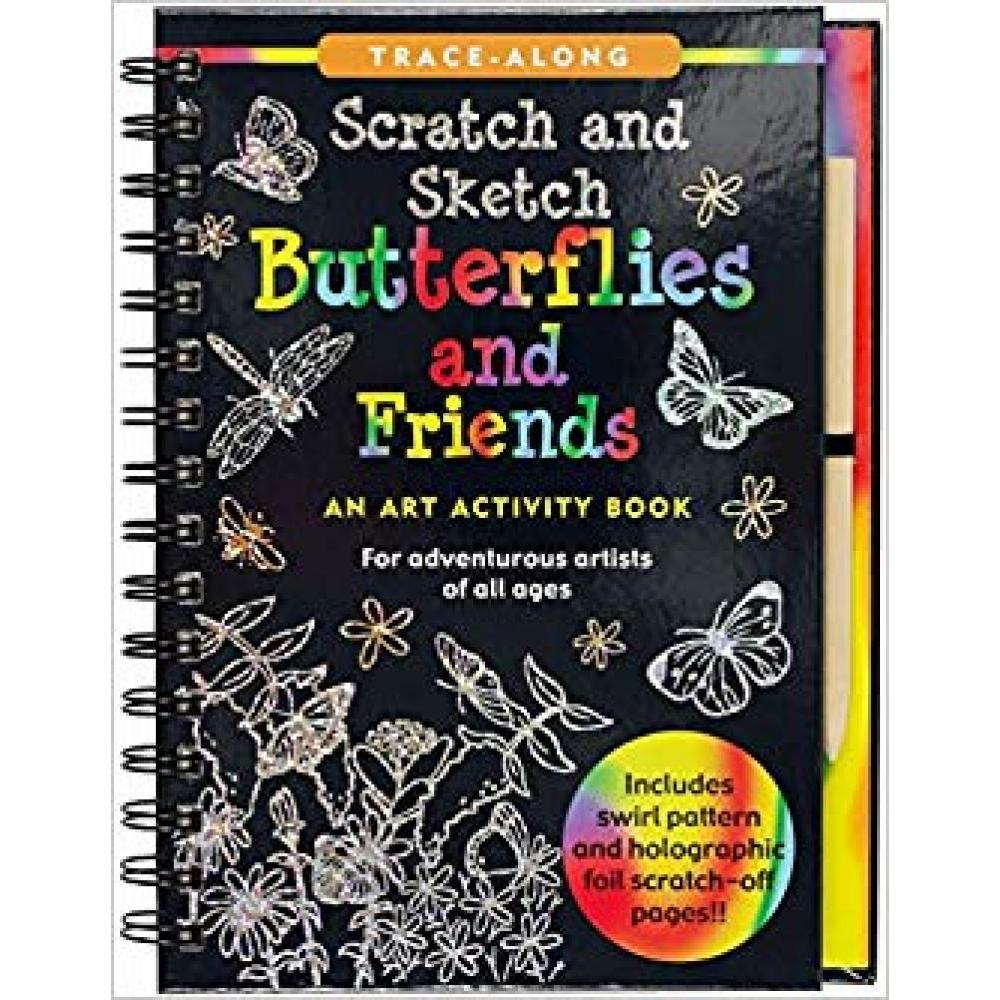 Scratch And Sketch Trace Along Activity Book Butterflies and Friends