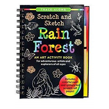 Scratch And Sketch Trace Along Activity Book Rainforest