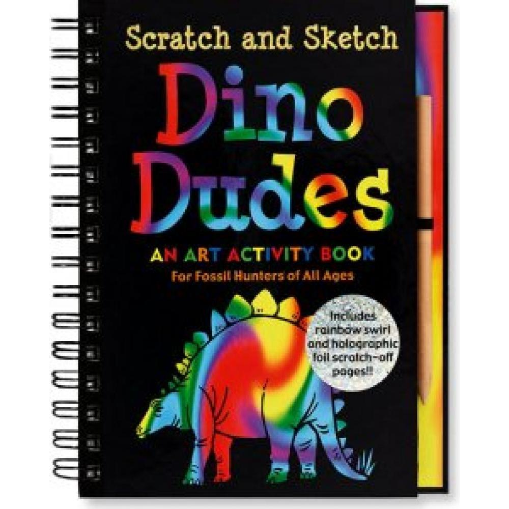 Scratch And Sketch Trace Along Activity Book Dino Dudes