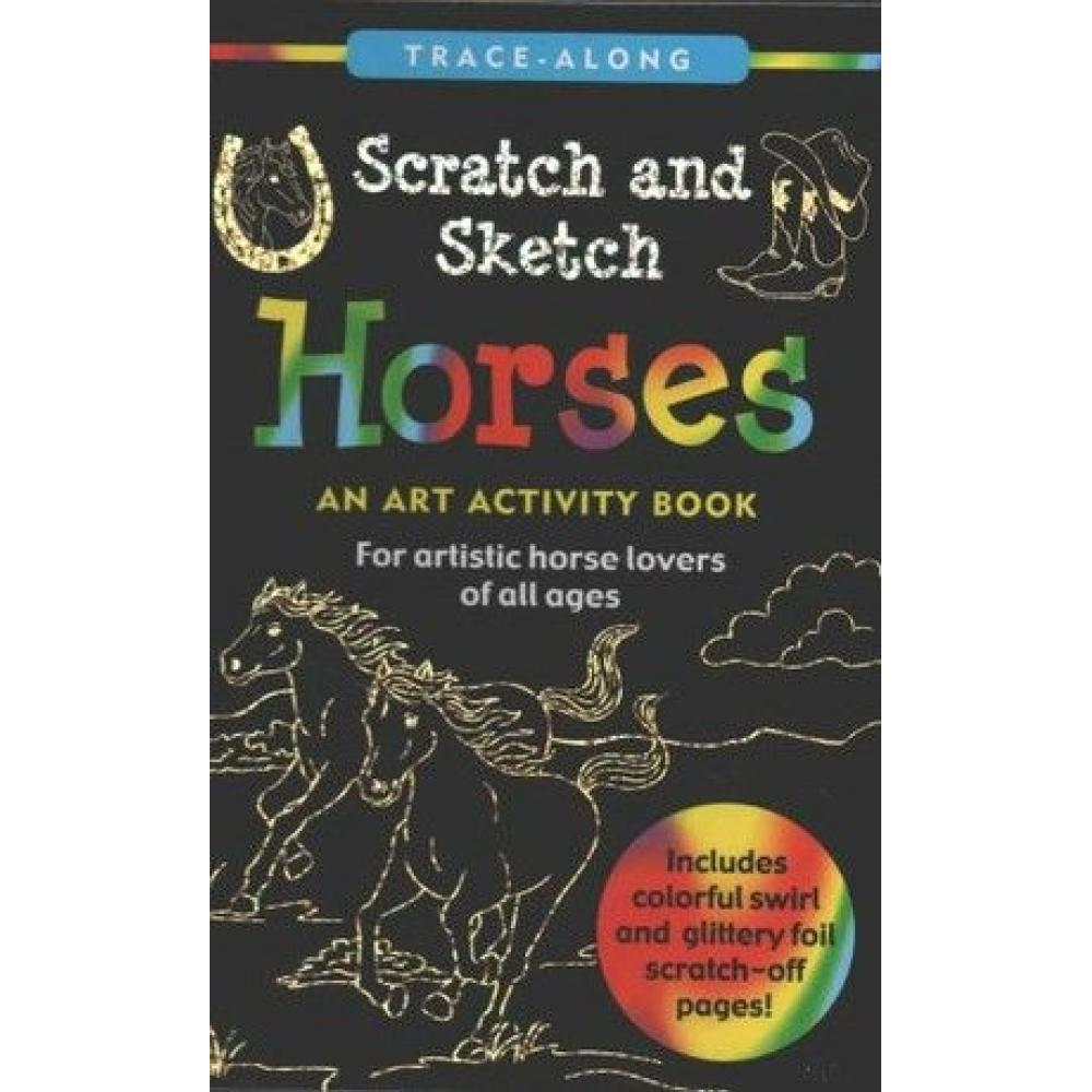 Scratch And Sketch Trace Along Activity Book Horses