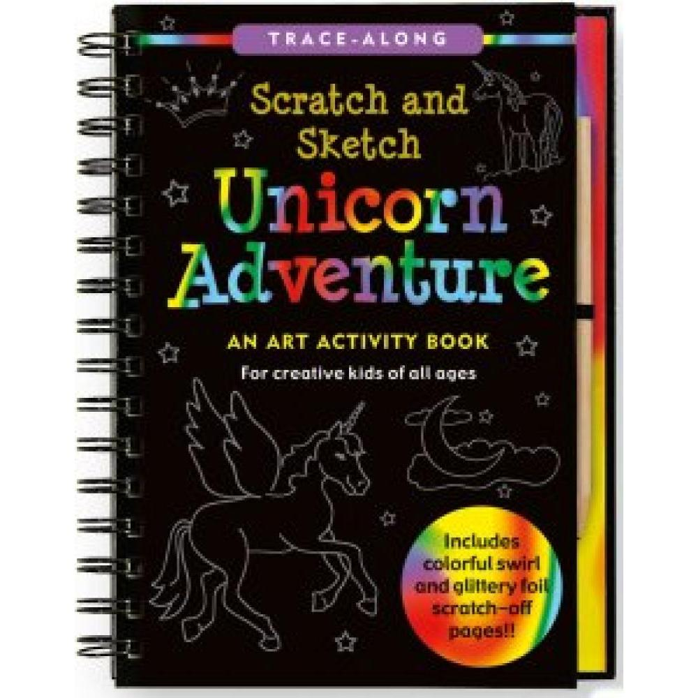 Scratch And Sketch Trace Along Activity Book Unicorn Adventure