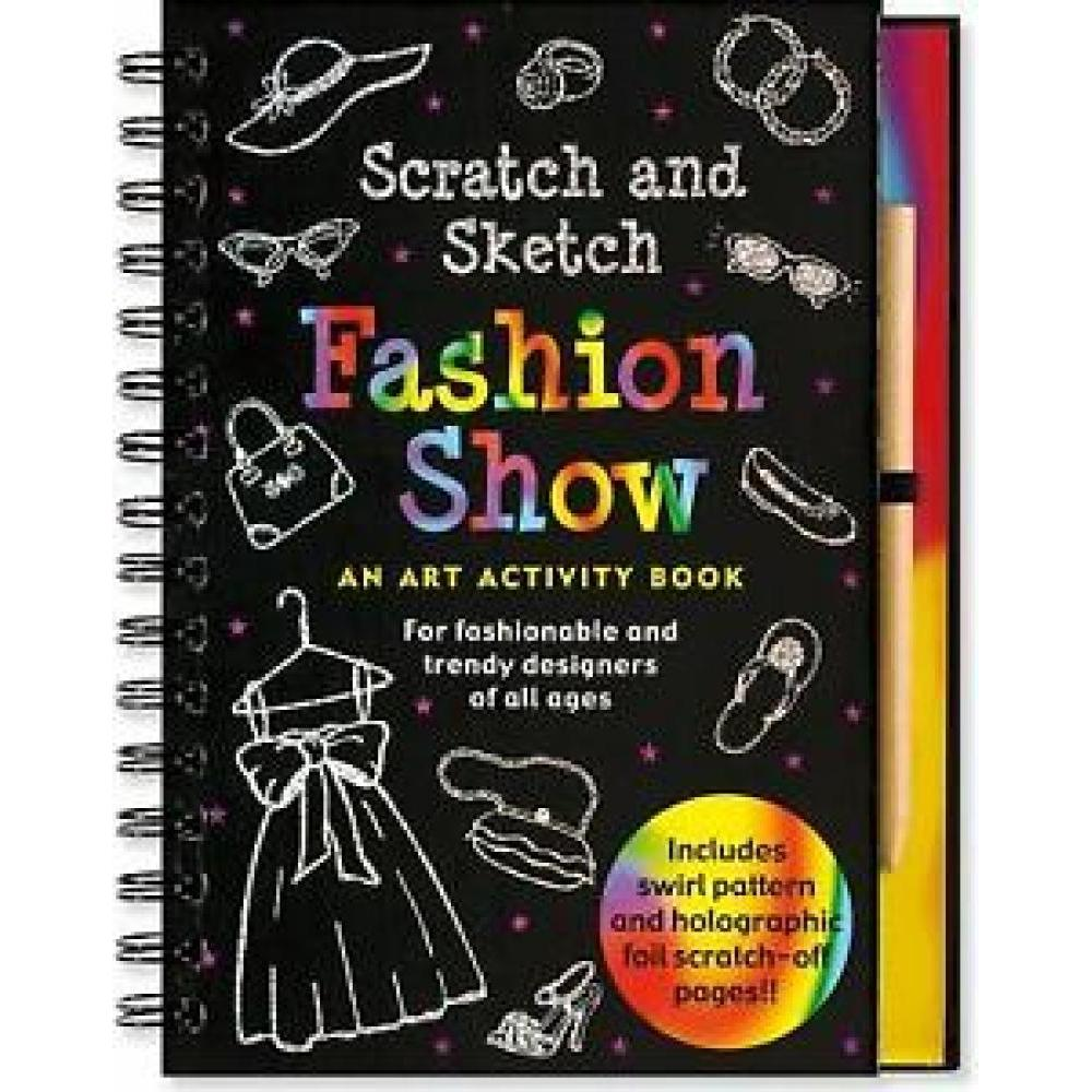 Scratch And Sketch Trace Along Activity Book Fashion Show