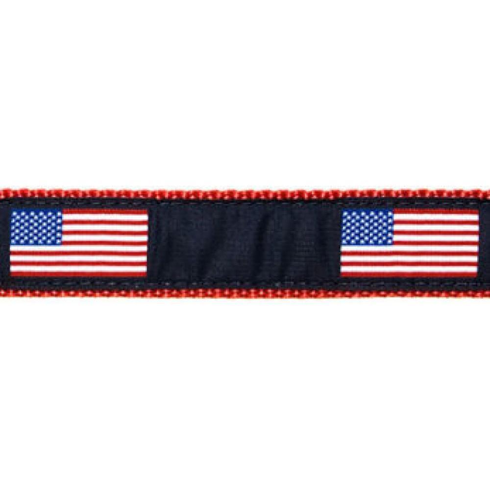 Dog Collar 11-18in American Flag