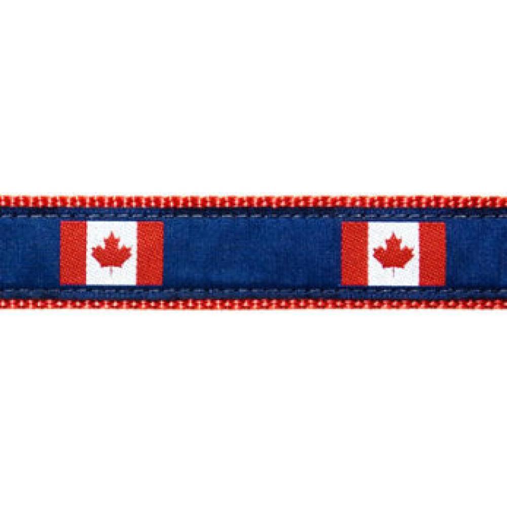 Dog Collar 12-20in Canada Flag