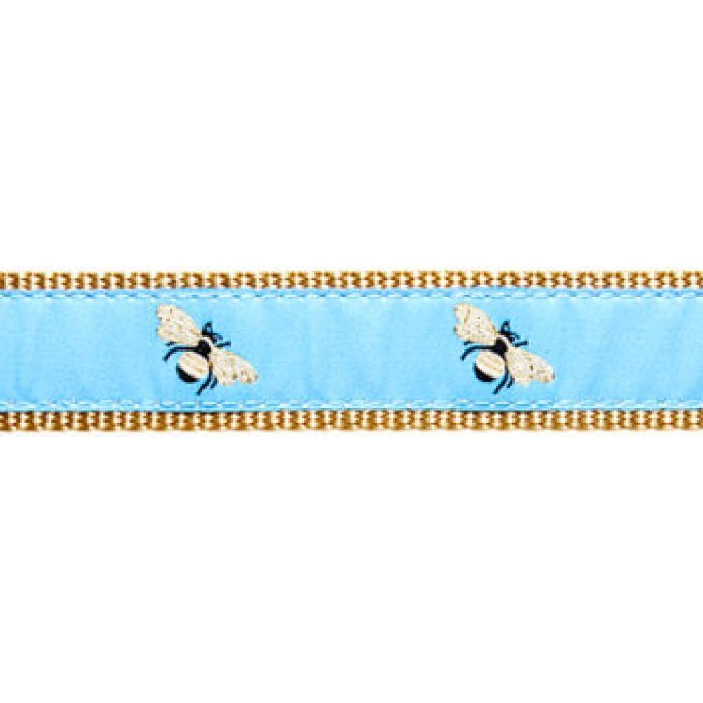 Dog Collar 15-24in Blue Bee