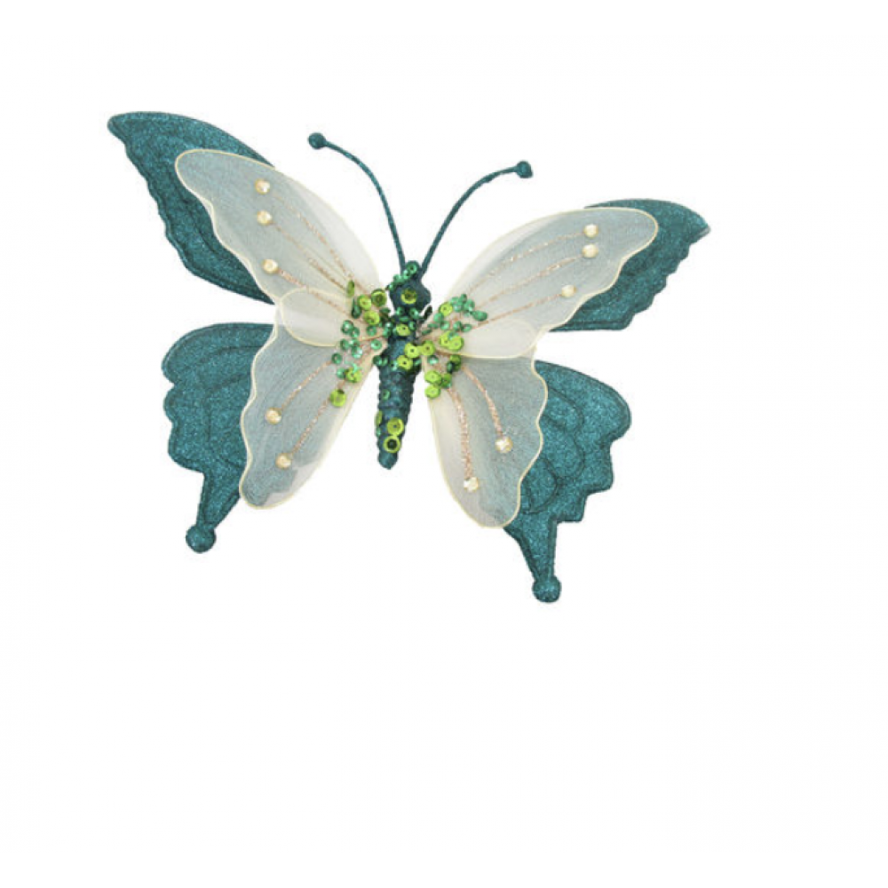 Ornament - 9.75in Butterfly Clip