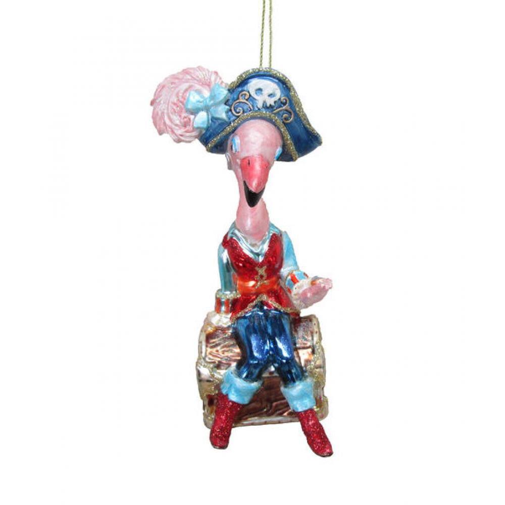 Ornament - 5.5\' Pirate Flamingo