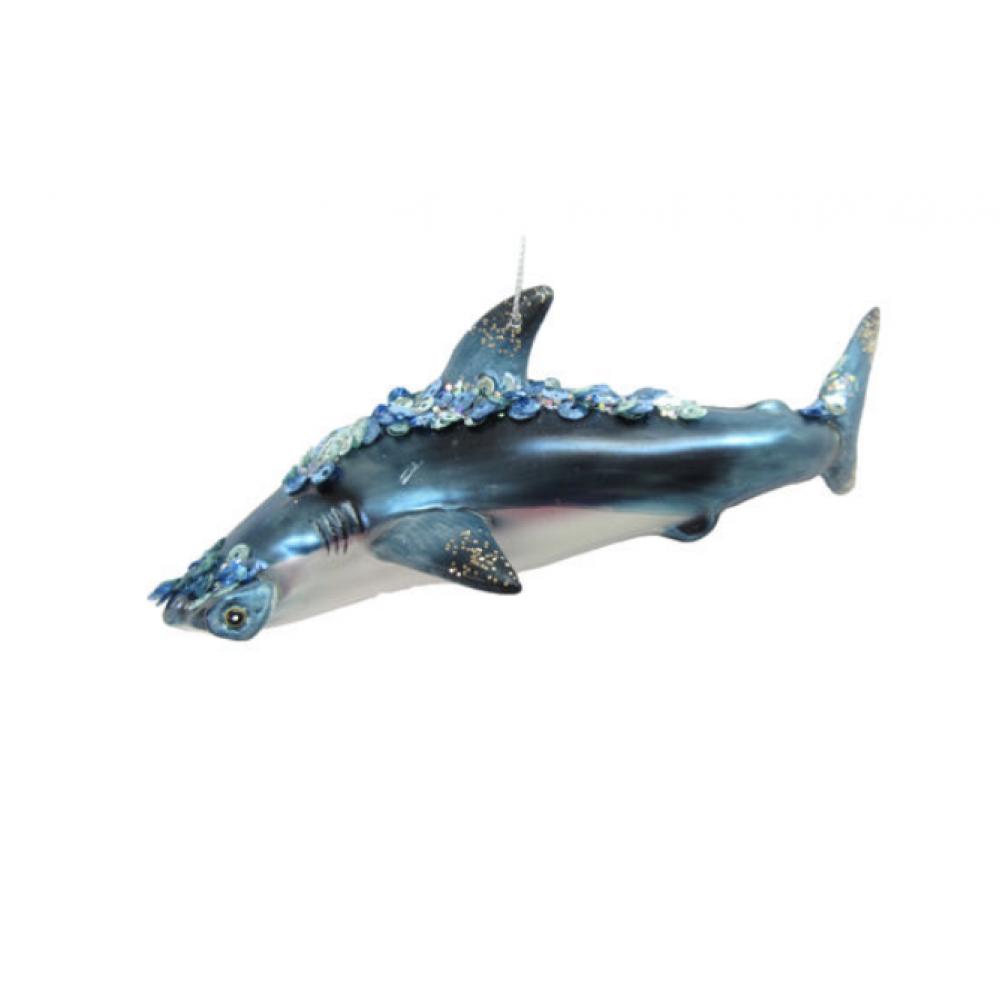 Ornament - Hammerhead Shark w/ Jewels