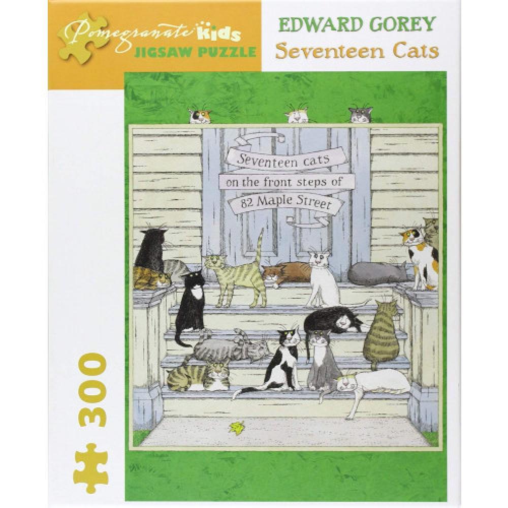 Puzzle 300 Piece Edward Gorey Seventeen Cats