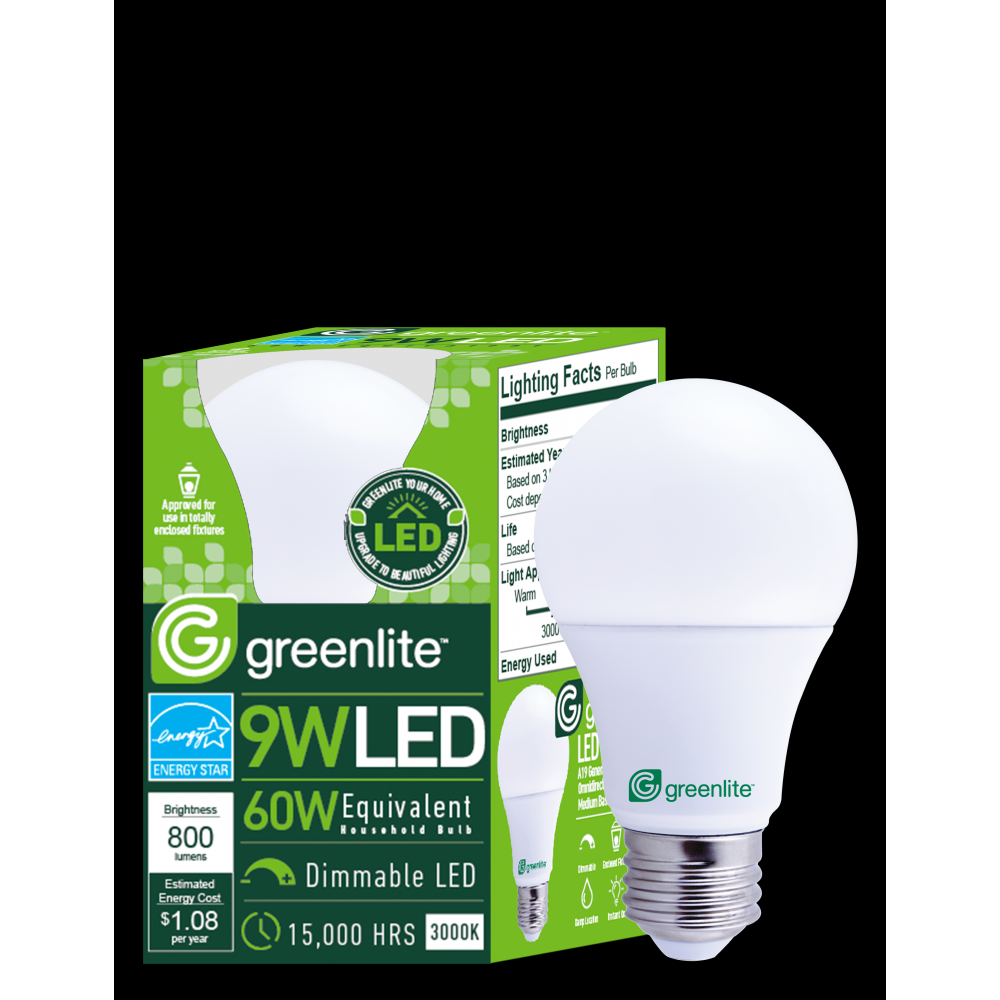 9W Dimmable Omnidirectional A-Type Replaces 60W Standard Household Bulbs