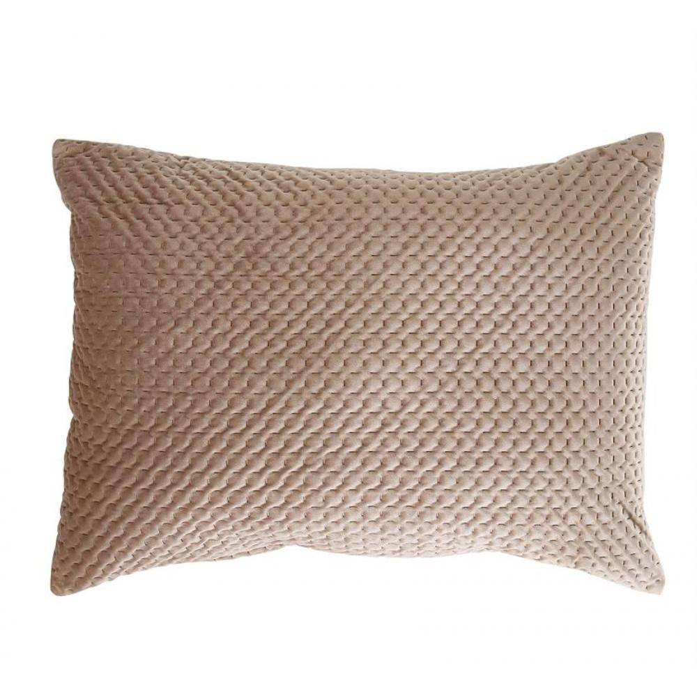 Pillow Lumbar Extra Large Stitched Velvet Sand