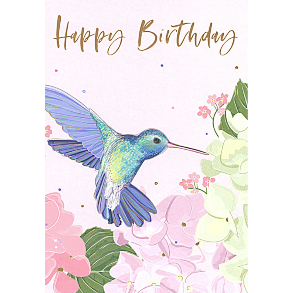 Birthday - hummingbird