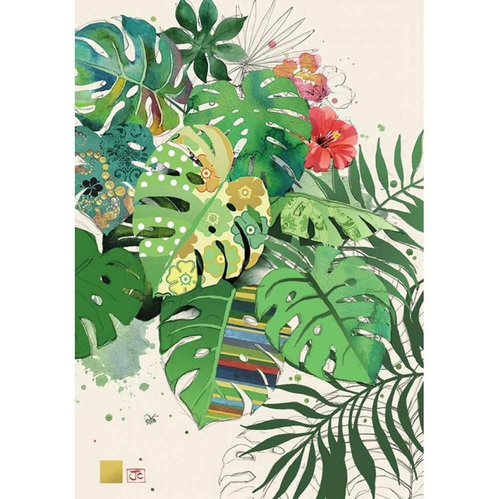 any occasion - bug art - tropical leaves
